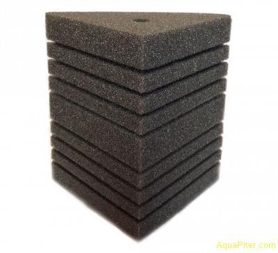 Губка треугольная, 10х10х14х14см