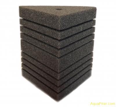 Губка треугольная, 11х11х16х20см