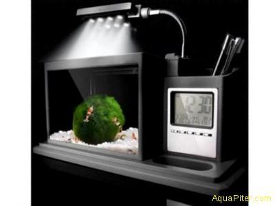 """Aквариум Aquael AQUAME, """"органайзер"""" с часами, чёрный"""