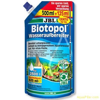 Препарат JBL Biotopol для подготовки воды в экономичной упаковке 625мл