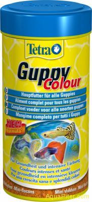 Корм Tetra Guppy Colour Flocken для усиления насыщенности окраса Гуппи, 100мл