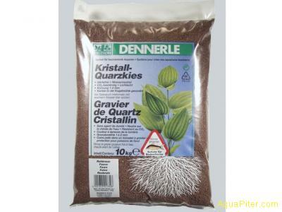 Аквариумный грунт Dennerle Kristall-Quarz, гравий фракции 1-2 мм, цвет темно-кор