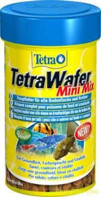 Корм Tetra Wafer Mini Mix для всех донных рыб и ракообразных, 100мл