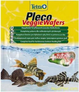 Корм Tetra Pleco Veggie Wafers для донных рыб, 15г