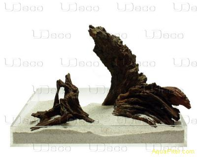 "Коряга натуральная UDeco Iron Driftwood ""Железная"" XS, 15-20см"