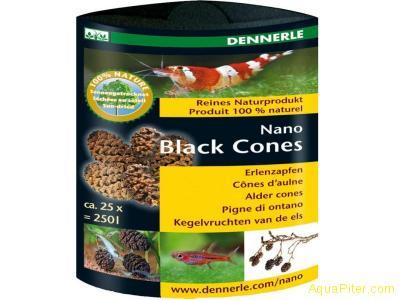 Ольховые сережки Dennerle Nano Black Cones, 25шт