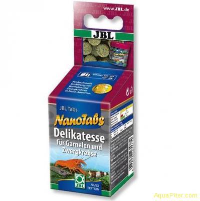 Корм JBL NanoTabs в форме таблеток для креветок и карликовых раков, 60 мл.