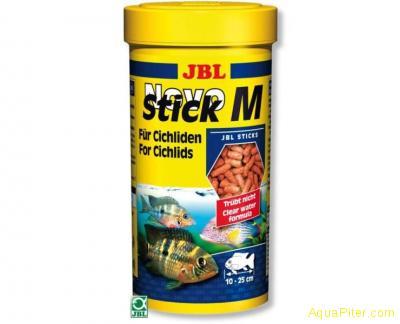 """Корм JBL NovoStick M для плотоядных цихлид в форме """"палочек"""", 250мл."""