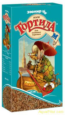 Корм Тортила М для водяных черепах, 50г