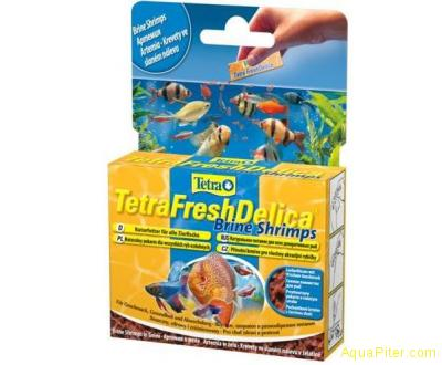 Корм Tetra FreshDelica Brine Shrimps (желе артемия),  48г.