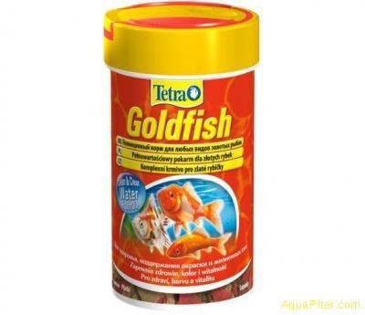 Корм TetraGoldfish Floken для золотых и холодноводных рыб 100ml