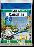 Грунт JBL Sansibar RIVER декоративный светлый, мелкий, с черными вкраплениями, 5