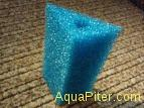 Губка треугольная, синяя, 6х6х8х12см