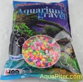 Грунт Marlin Land камушки для аквариума разноцветные, 6-10мм