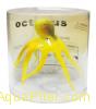"""Декор """"Осьминог"""" из силикона для аквариума, плавающий, ф9x14см (цвет: желтый)"""